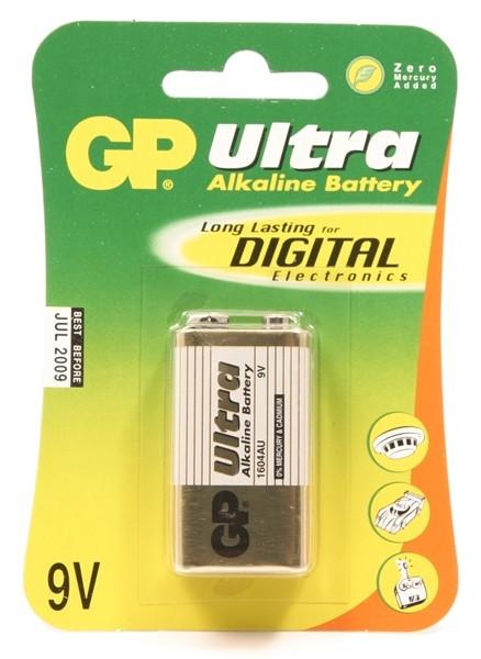 GP Ultra Alkaline 6LR61 (9V) blister (1604A)