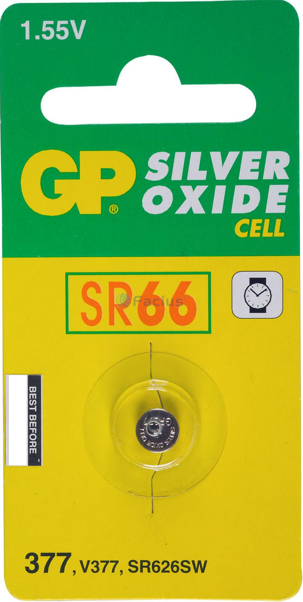 GP Horlogebatterij 377 (SR626SW) Low drain, blister 1