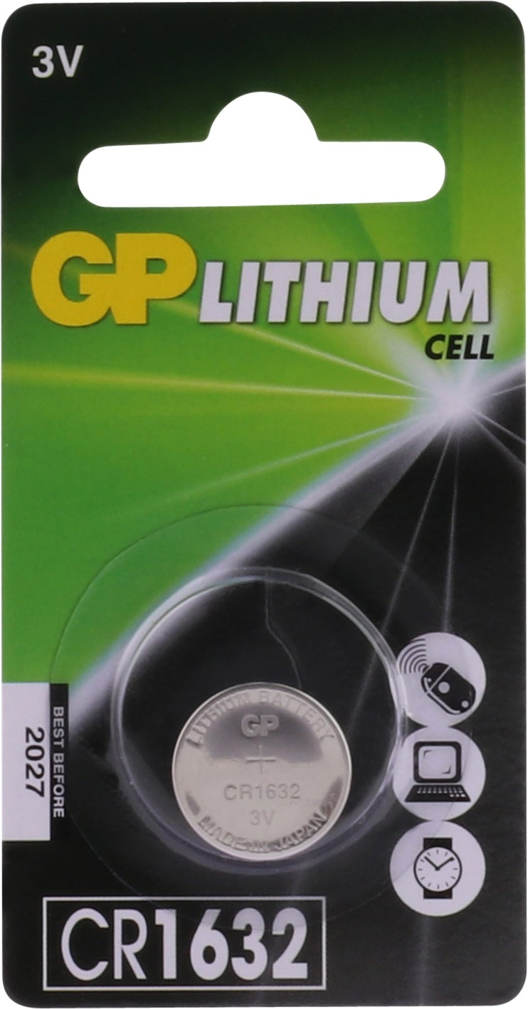 GP Lithium knoopcel CR1632, blister 1