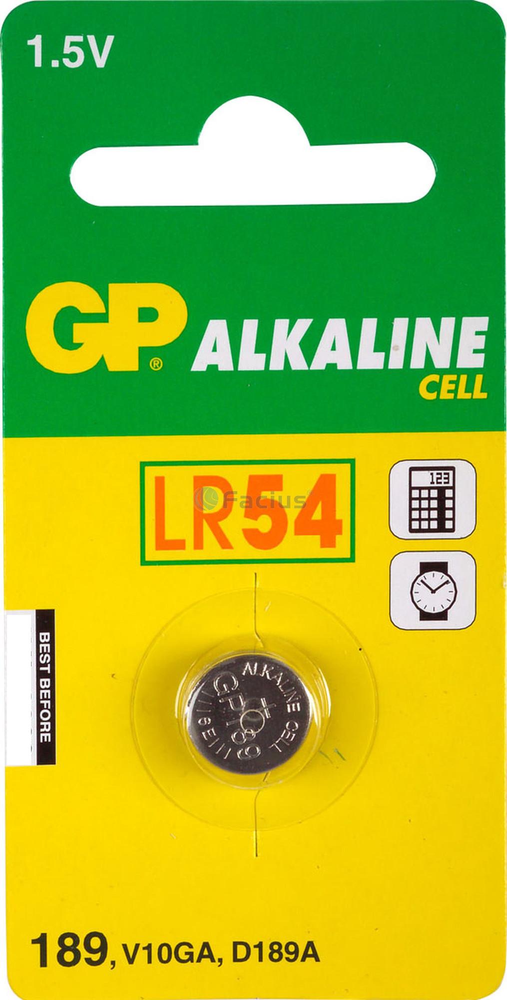 GP LR54 Alkaline knoopcel 189 (V10GA / L1130) 1.5V