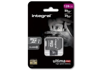 Integral MicroSDXC 128GB class 10 80MB/s incl. SD adapter