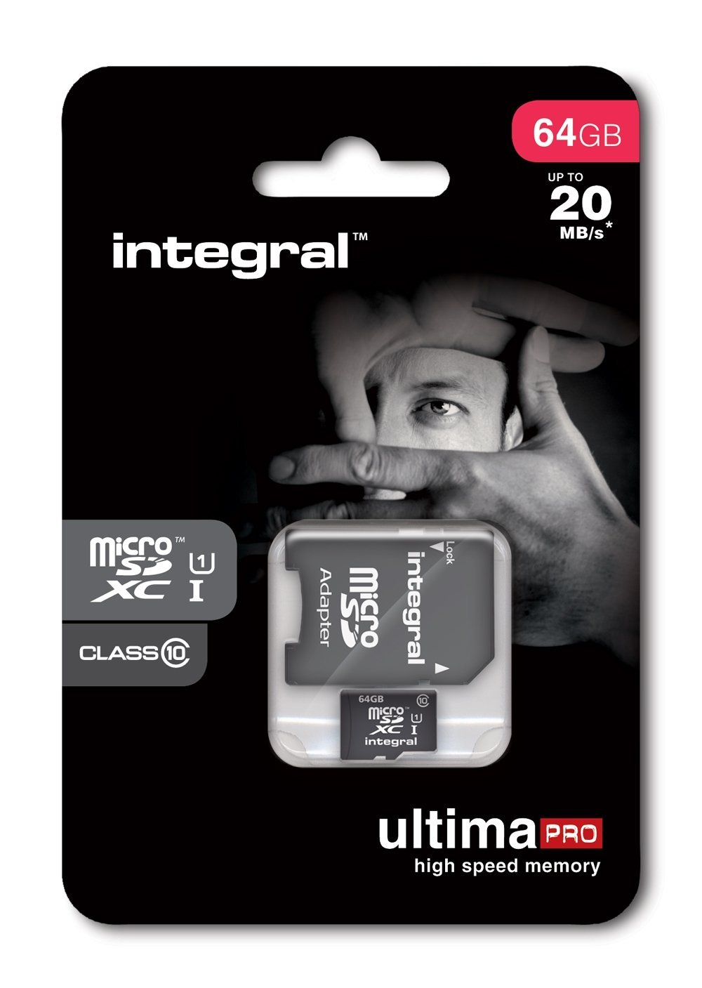 Integral MicroSDXC 64GB class 10 90MB/s incl. SD adapter