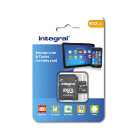 Integral MicroSDXC 256GB class 10 90MB/s incl. SD adapter