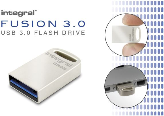 Integral 16GB USB 3.0 Flash Drive Metal Fusion