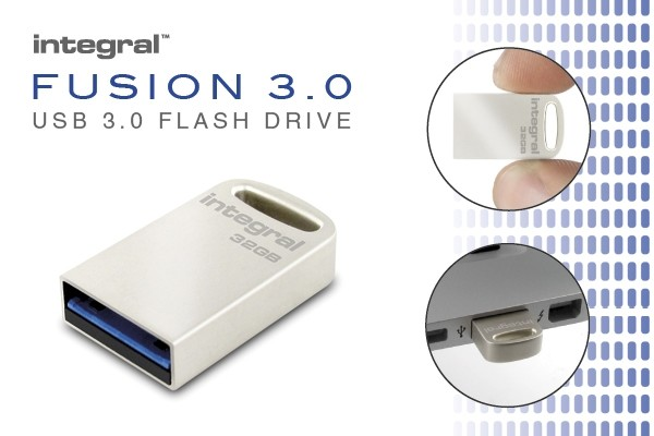 Integral 32GB USB 3.0 Flash Drive Metal Fusion