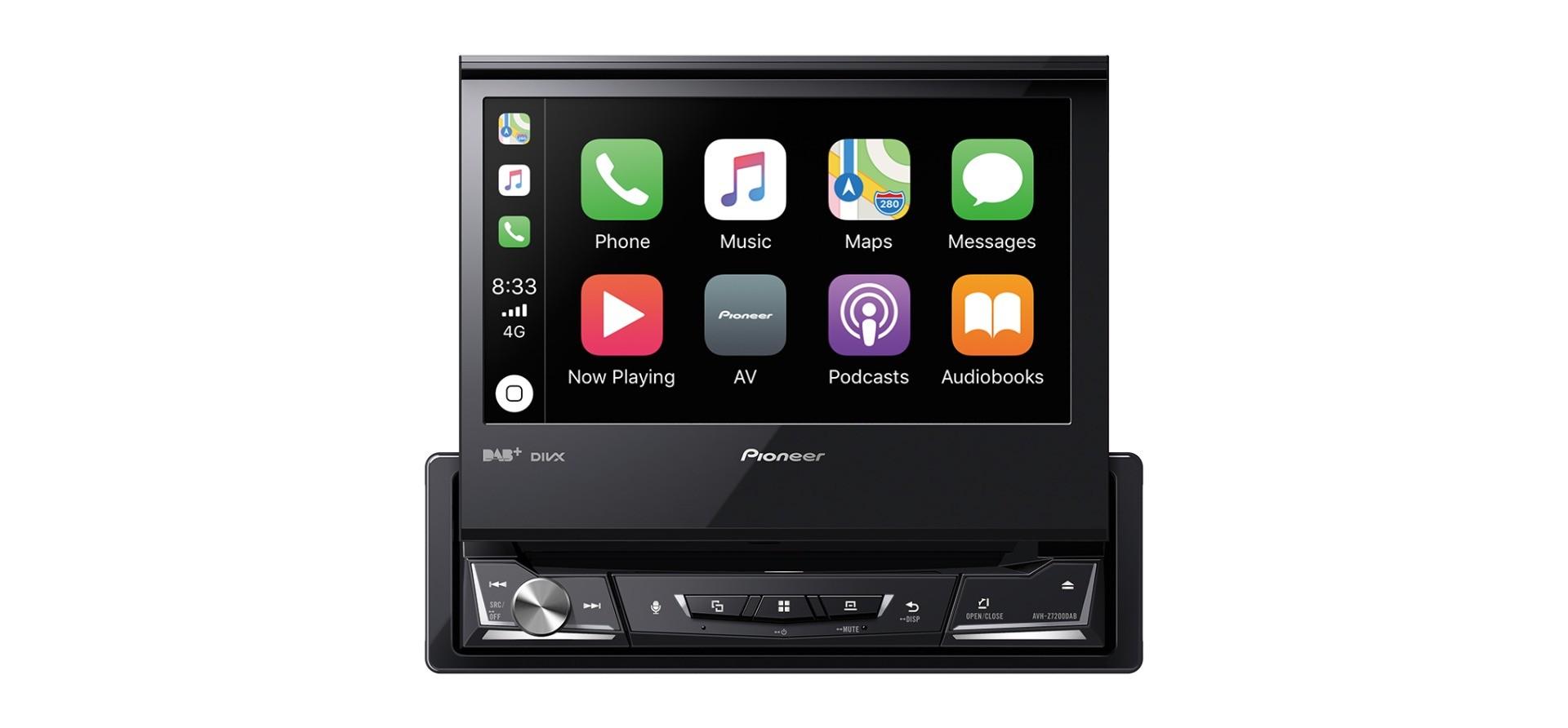 """Pioneer AVH-Z7200DAB 1DIN 7"""" Multimedia Receiver"""