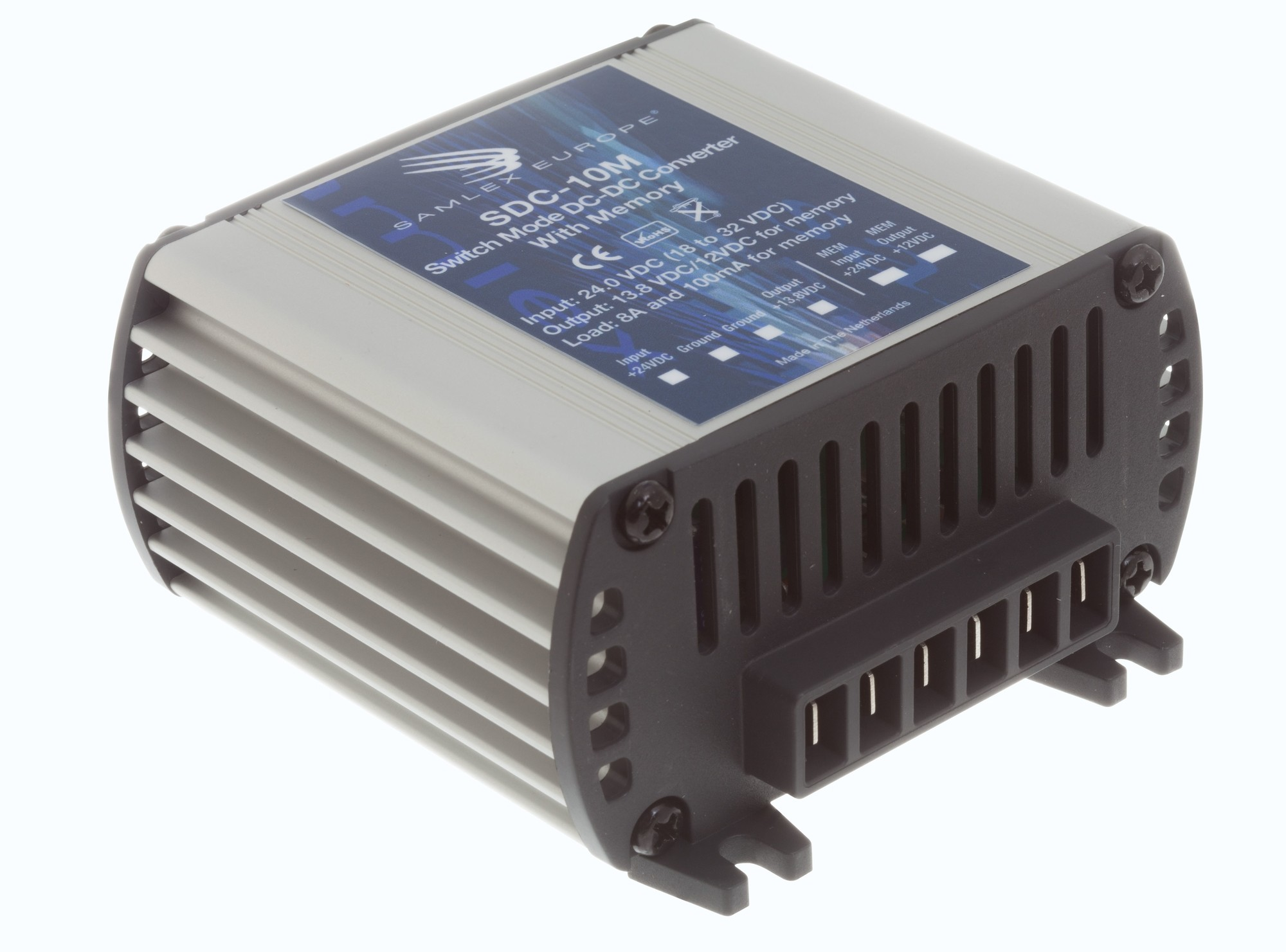Omvormer SDC-10M 18-32V->13.8V 8 amp 100ma