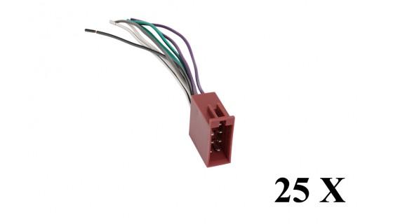 Kabelboom uni speakers vrouwelijk>open einde (25x)