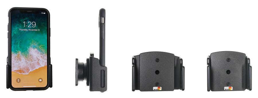 Brodit adjustable holder Apple iPhone Xs/XR/11 70-83/2-10mm