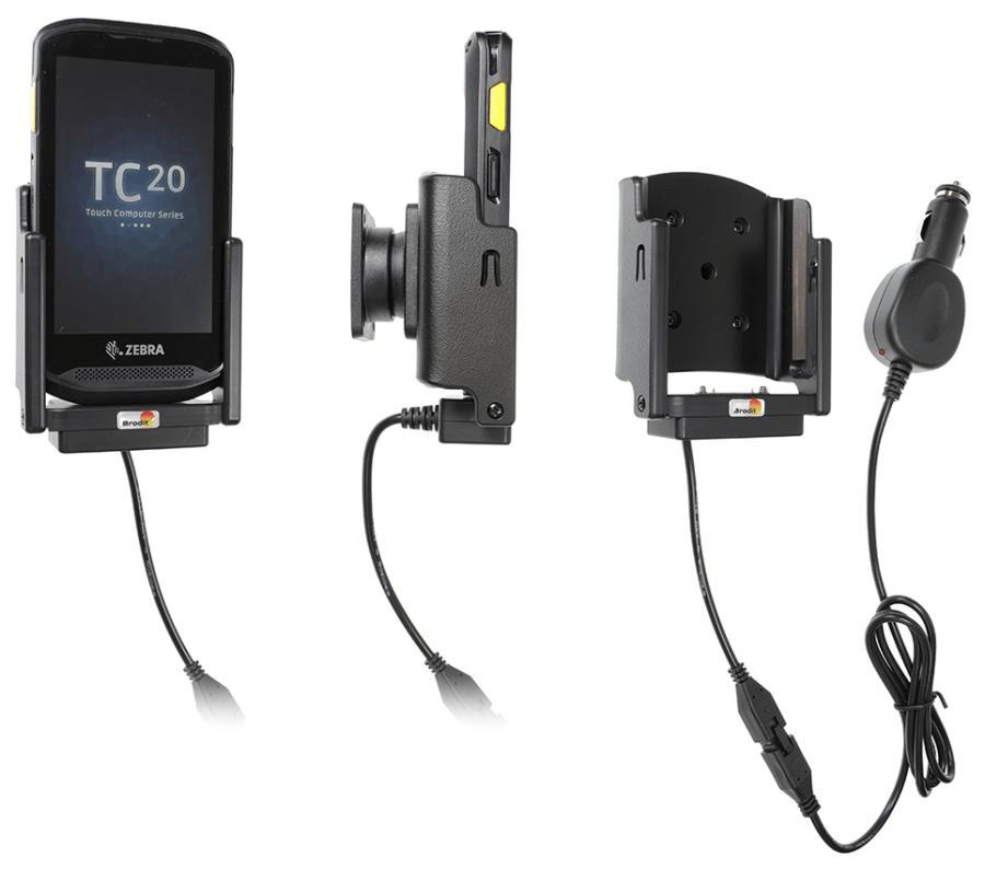 Brodit holder/charger Zebra TC20/TC25 cig.plug - 3A
