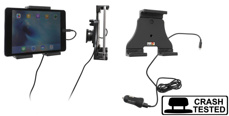 Brodit AH tablet adjust.120-150mm USB sig.plug-lightning