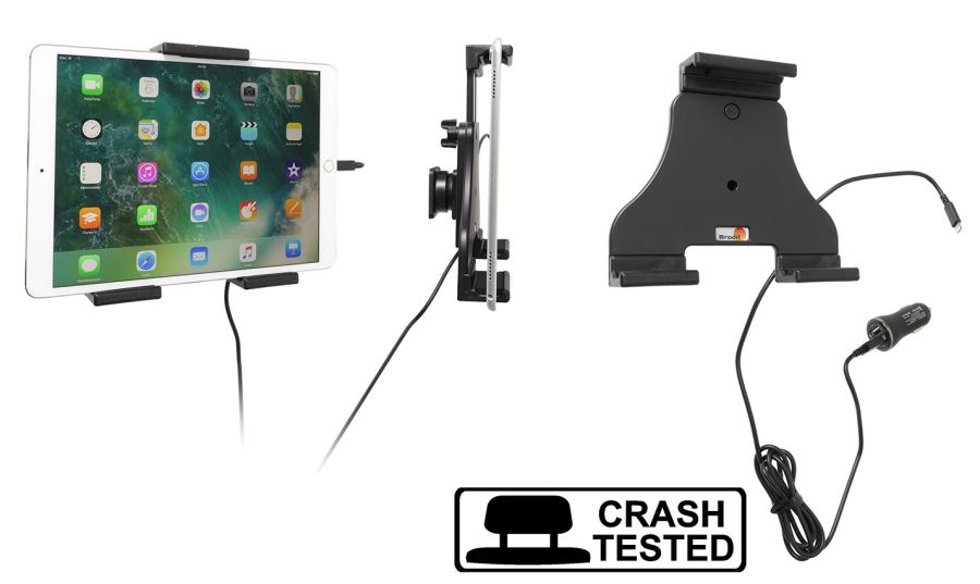 Brodit AH tablet adjust.140-195mm USB sig.plug-lightning