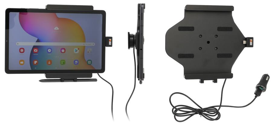 Brodit holder/charger Sam.Galaxy Tab S6 Lite USB cig.plug