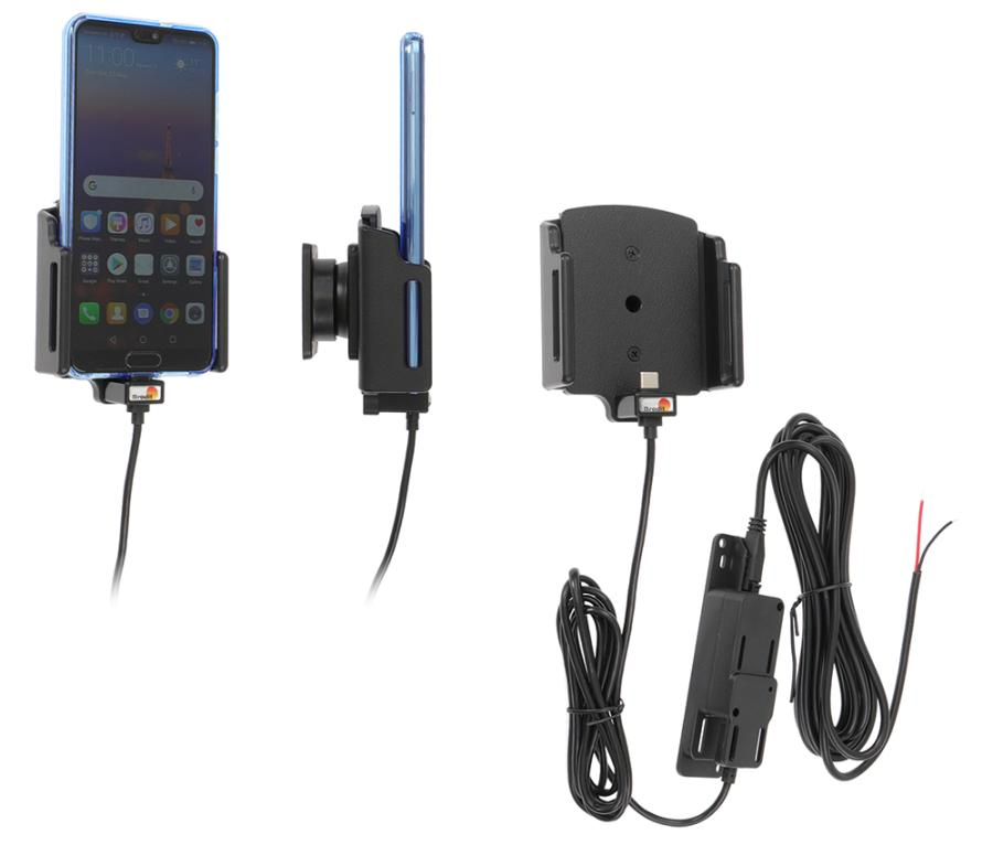 Brodit fixed install. holder USB-C adjust. b.70-83/2-10mm