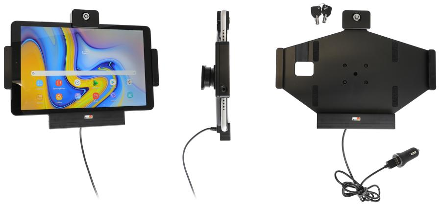 Brodit Active holder Samsung Tab A 10.5 SM-T590 USB sig.plug