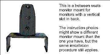Brodit Monitor mount between seats Porsche Cayenne 03-10