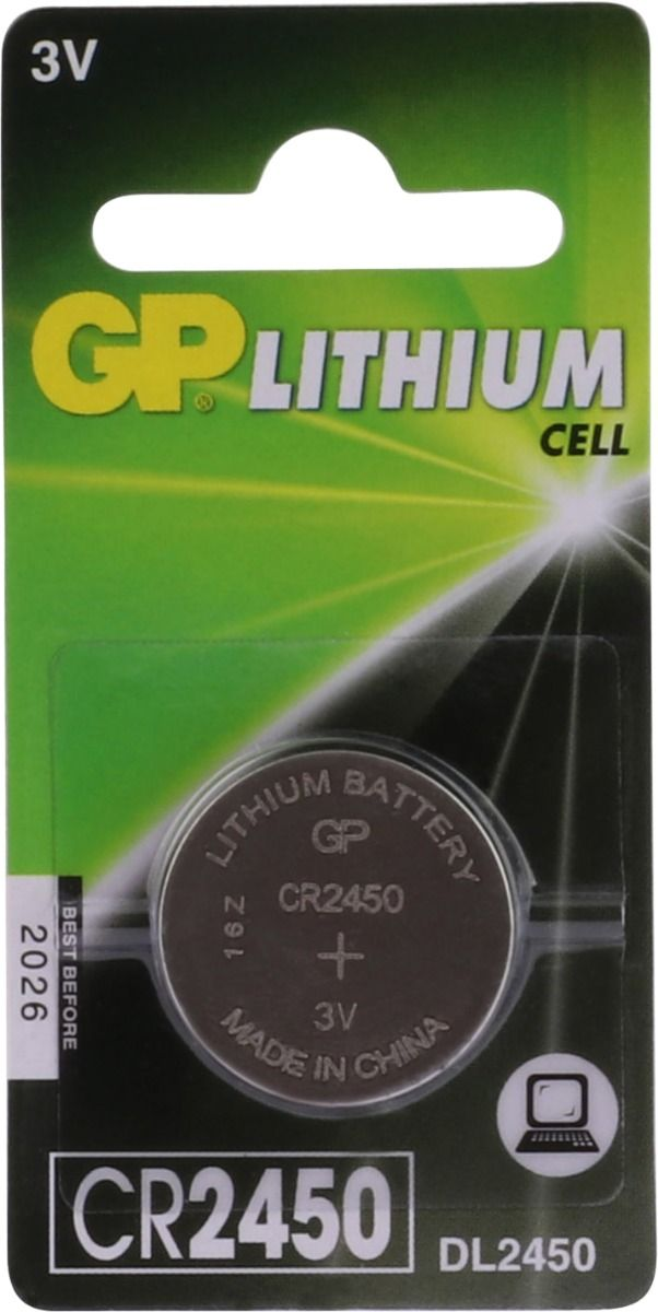 GP Lithium knoopcel CR2450, blister 1